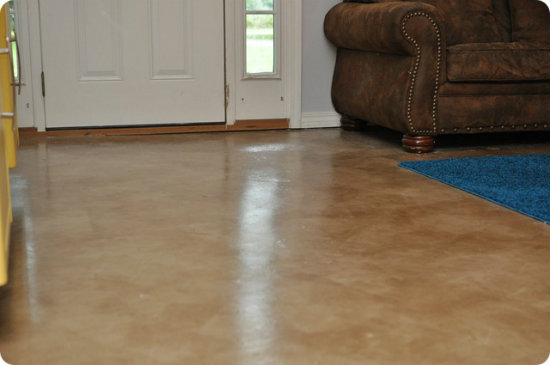 diy concrete stain diy painted and stained concrete floors 187 iseeidoimake 3392
