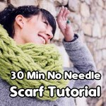 30 Minute No Needle Scarf Tutorial