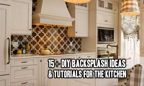 15+ DIY Backsplash Ideas & Tutorials For The Kitchen