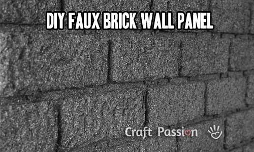 DIY Faux Brick Wall Panel