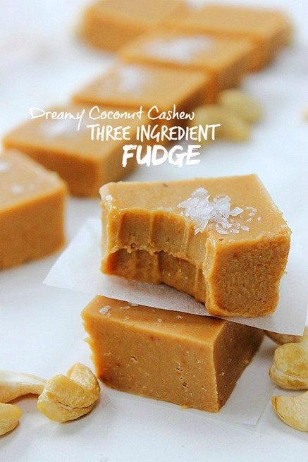 Three Ingredient Cashew Coconut Fudge