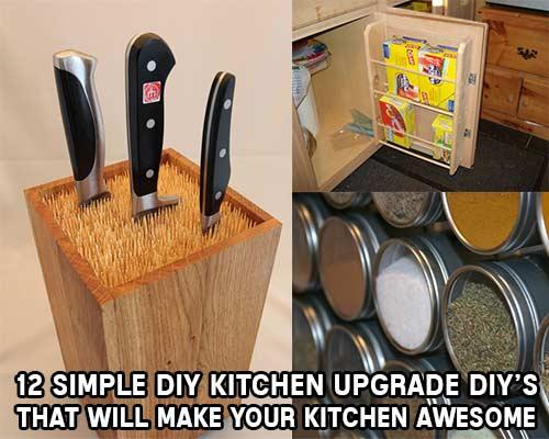 12 Simple DIY Kitchen Upgrades