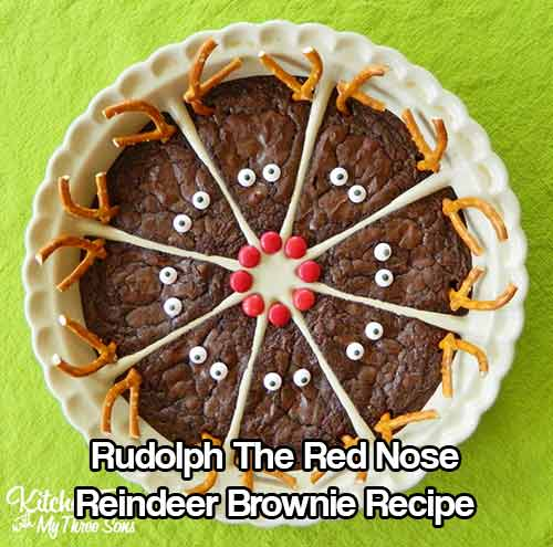 Rudolph The Red Nose Reindeer Brownie Recipe