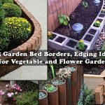 25+ Beautiful Garden Bed Edging Ideas