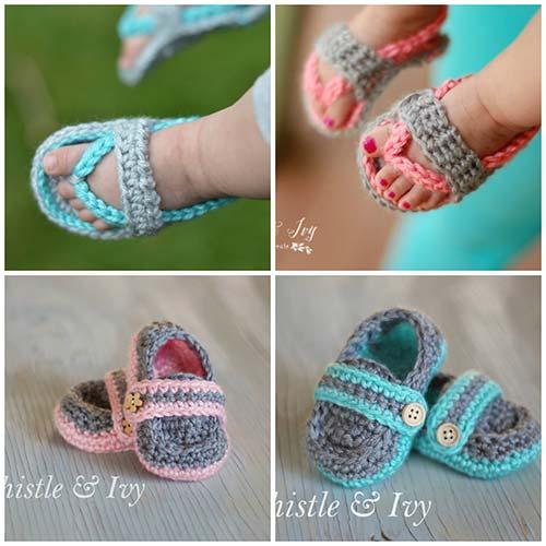 f229b8c18f1f How To Crochet Baby Flip Flop Sandals – iSeeiDoiMake