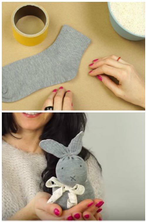 How To Make A No-Sew Bunny For Kids