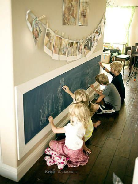 Kids Chalkboard Art Wall