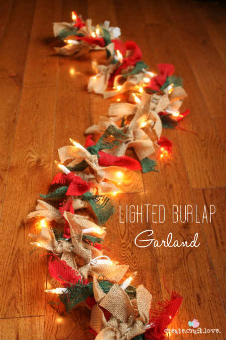 How To Easily Make A Lighted Burlap Garland