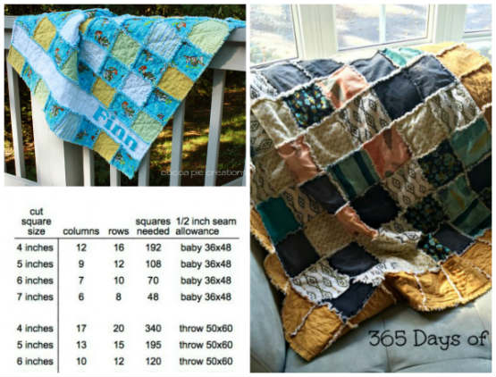 Rag Quilt Square Cutting Guide And Tutorial