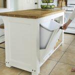 DIY Kitchen Island Build with Trash Storage