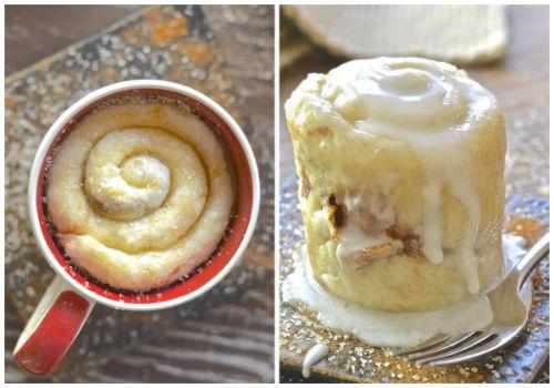 One Minute Cinnamon Roll In A Mug Recipe
