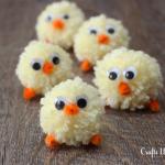 Easter Pom Pom Yarn Chicks