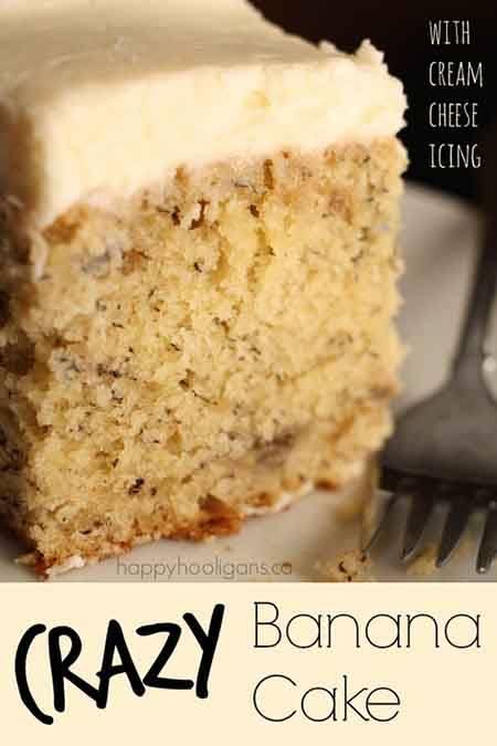 Crazy Banana Cake With Cream Cheese Icing Recipe