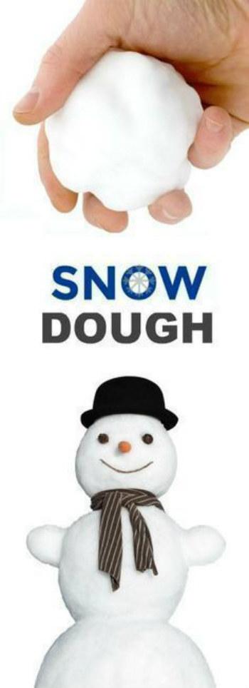 Diy 2 Ingredient Snow Dough Iseeidoimake