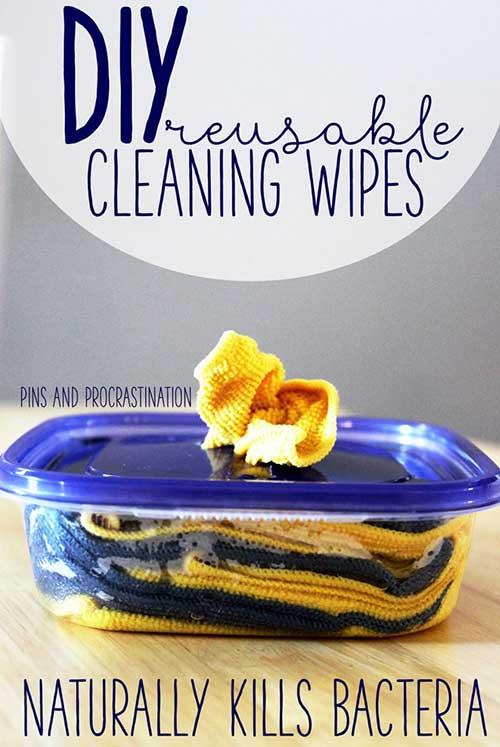 DIY Reusable Cleaning Wipes - Kills Bacteria