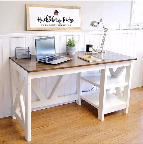 How To Make A Farmhouse X Desk