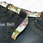 DIY Reversible Denim Belt