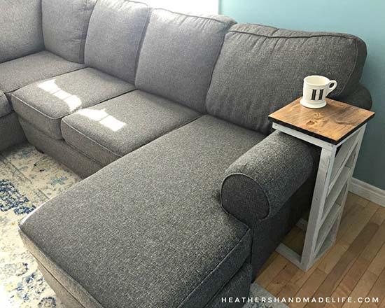 Super Easy DIY Sofa Table