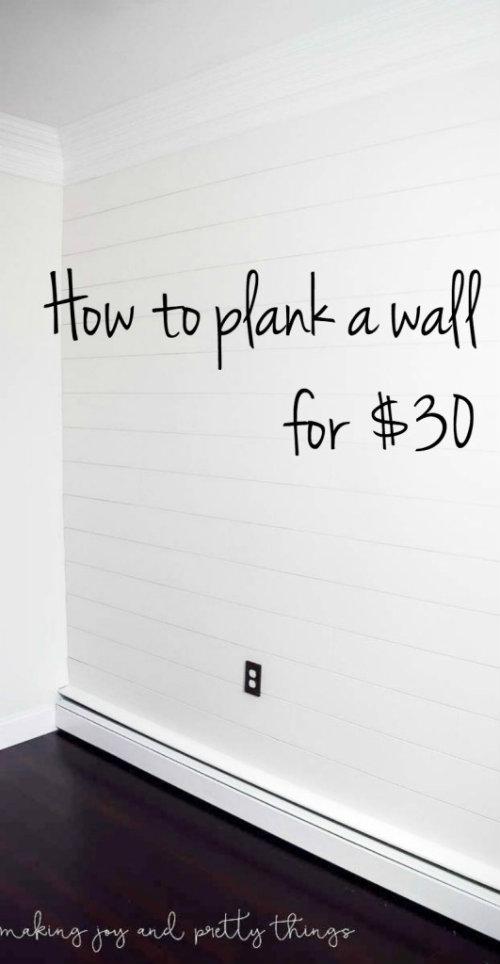 DIY Shiplap Wall Plank