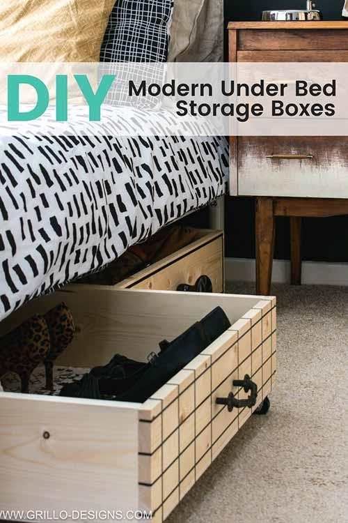 How To Make Easy Under Bed Storage Iseeidoimake