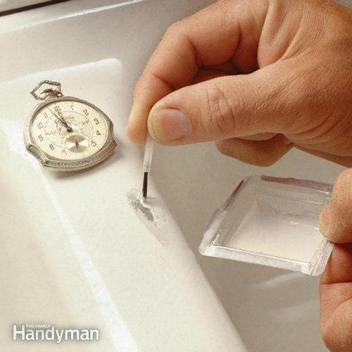 How To Fix A Chipped Sink Or Bath Iseeidoimake