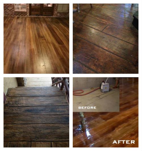 How To Make Concrete Floors or Patios Look Like Hardwood