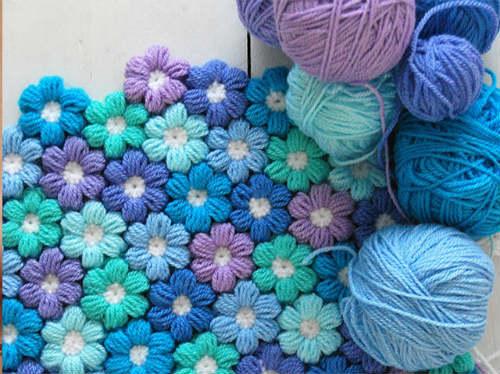 FREE PATTERN Puff Flowers Crochet