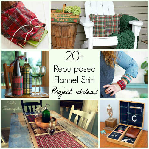 20+ Repurposed / Upcycled Flannel Shirt DIY Craft Projects