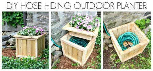 DIY Hose Hiding Planter