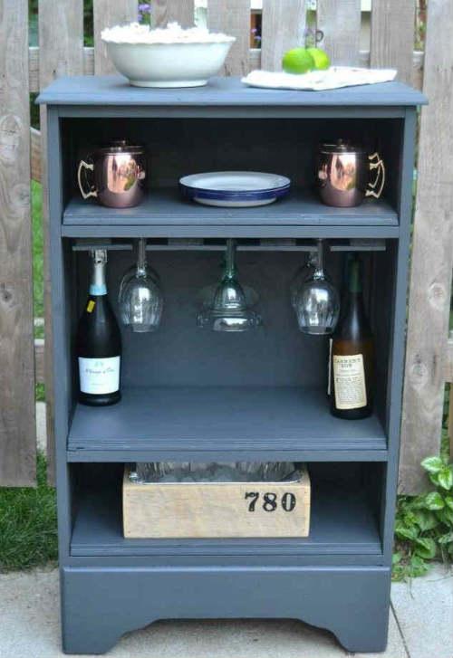 DIY: From a Dresser to a Bar