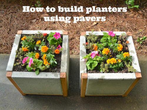How to Build a Paver Planter