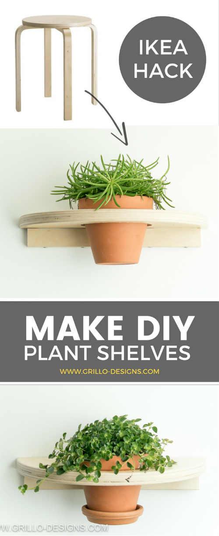 IKEA Frosta Hack: From Stool to DIY Planter Shelf