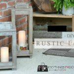 How To Make Rustic Wood Lanterns