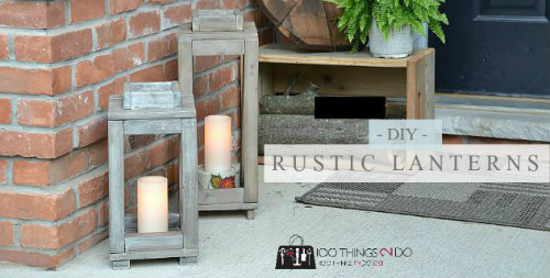 How To Make Rustic Wood Lanterns