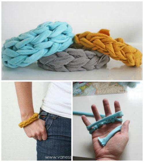 How To Make a Jersey Knit Bracelet