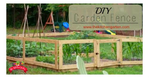 DIY Raised Bed Garden Fence