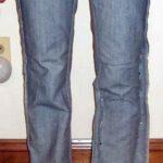 DIY Jeans Refashion: Flares to Straight Leg