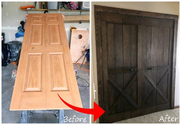 How To Create A Barn Door From Bifold Doors Iseeidoimake